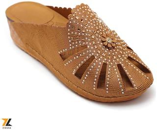 Ziesha Sandals For Women ( Tan )