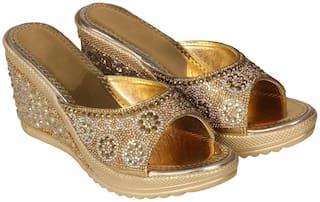 Ziesha Women Gold Wedges