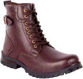ZONAC Men Brown Outdoor Boots