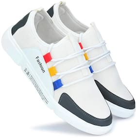 ZONAC White Lifestyle Shoes For Men