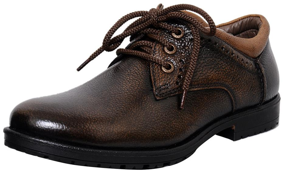Pure Leather Formal Shoes D-3561-Brown