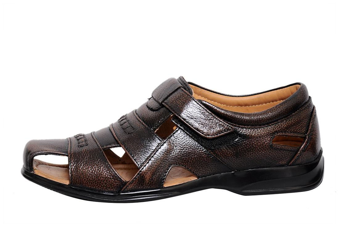 1c53502d0fcba Buy Zoom Men s Pure Leather Formal Sandal D-1271-Brown-10 Online at Low  Prices in India - Paytmmall.com