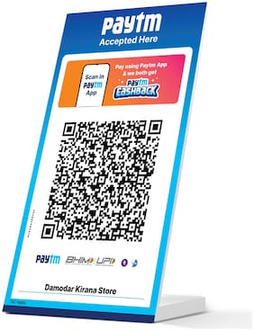 Paytm All In One QR Stickers (Set of 2) with 1 Standee