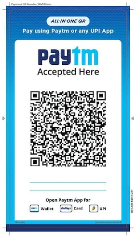 Paytm All In One Qr Stickers (Set Of 3)