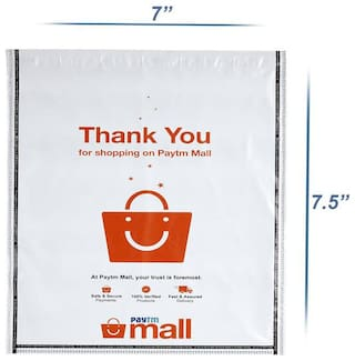 New Paytm Mall Branded, without POD Polybag 6 x 7 Inches (Pack of 500)