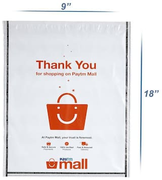 New Paytm Mall Branded, without POD Polybag 8 x 10 Inches (Pack of 200)
