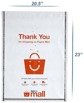 New Paytm Mall Branded, without POD Polybag 20 x 23 Inches (Pack of 50)