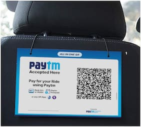 Paytm All in one QR display unit for Cab