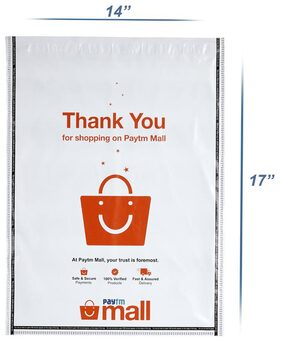 New Paytm Mall Branded, without POD Polybag 14 x 17 Inches (Pack of 100)