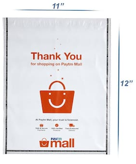 New Paytm Mall Branded, without POD Polybag 10 x 12 Inches (Pack of 100)