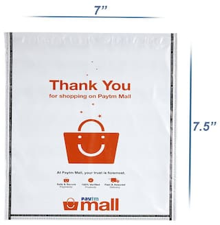 New Paytm Mall Branded, without POD Polybag 6 x 7 Inches (Pack of 100)