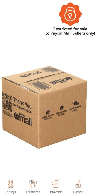 PT001 Paytm Branded Boxes, 4.3 x 4.4 x 4 Inches (Pack of 50)