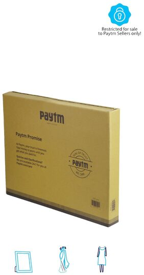 PT009 Paytm Mall Branded Boxes, 17 x 13 x 2 Inches (Pack of 50)