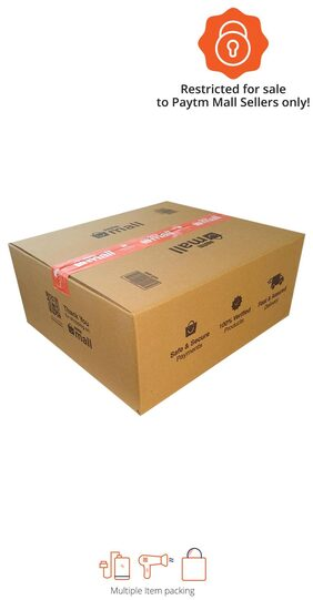 PT013 Paytm Mall Branded Boxes, 16 x 14 x 6.8 Inches (Pack of 50)