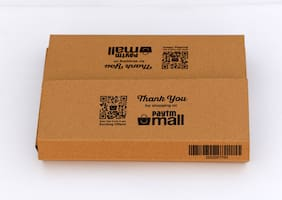 500 gms PTF99 Paytm Mall Branded Boxes 10 x 7 x 2 x 3.5 (Flap) Inches (Pack of 50)