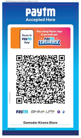 Paytm All in one QR stickers (Set of 25)