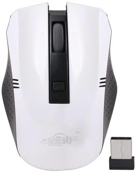 Ad Net Ad-999 Wireless Optical Mouse Gaming Mouse  (USB, White)