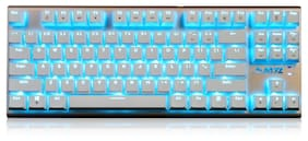 Ajazz AK40 87 Keys Wired Mechanical Keyboards Black / Blue Axis Full Button Suspension Ice Blue Back Light White Gaming Ergonomic Keyboards