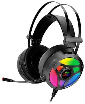 Ant Esports H909 Over ear Headsets With Mic - Black