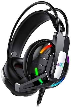Ant Esports H630 Over ear Gaming Headsets With Mic - Black