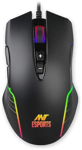 Ant Esports GM500RGB Gaming Mouse with 1000 Hz Polling Rate 4000 Dpi for FPS and MOBA (Black)