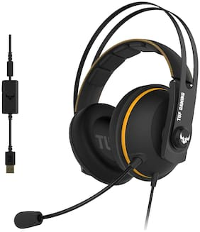 Asus TUF-GAMMING-H7 On ear Gaming Headsets With Mic - Black