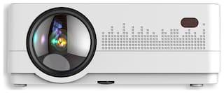 Boss S13 4000 Lumens Multimedia Projector Support Mobile/WIFI/HDMI/AV Input/USB Portable Projector (White)