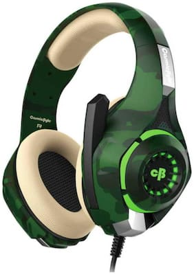 Cosmic Byte GS410 Over ear Gaming Headsets With Mic - Green