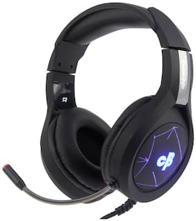 Cosmic Byte Over ear Gaming Headsets With Mic - Black