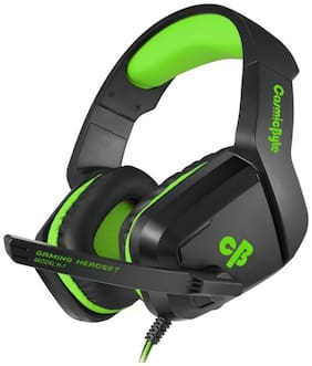 Cosmic Byte Over ear Gaming Headsets With Mic - Green