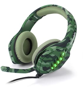 Cosmic Byte GS430 Wired Headset Gaming Headphone (Camo Green)