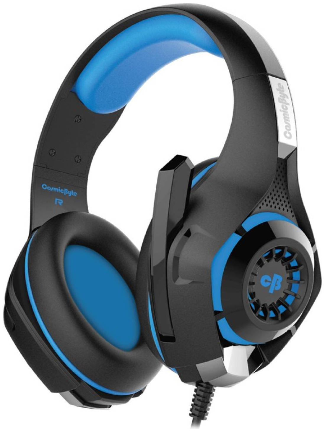 Cosmic Byte Over ear Gaming Headsets With Mic   Blue