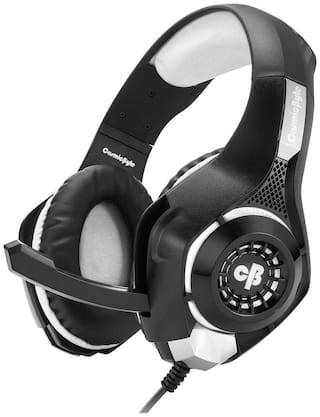 Cosmic Byte GS410 Over ear Gaming Headsets With Mic - Grey