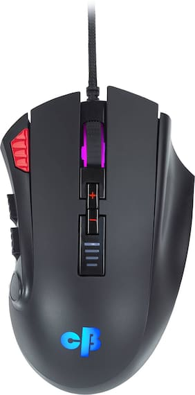 Cosmic Byte Equinox Gamma 16000DPI 12 Buttons, Pixart PAW3389 Wired Optical  Gaming Mouse (USB 2.0, Black)