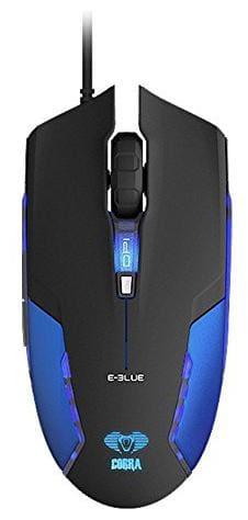 E-Blue Cobra Optical USB LED Gaming Mouse 1600 DPI Switch - Blue EMS151