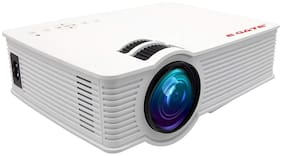 """Egate i9 Classic Android 720p Native (1080p Support)   2100 L (180 ANSI ) with 120 """" (3.04 m) Large Display LED Projector   AV, HDMI , SD Card , USB, Audio, CPU, Android 6.0,Wifi (White)"""