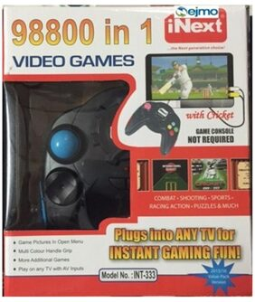 Ejmo Inext Video Game 98800 -IN-1 USB TV Controllers (Black)