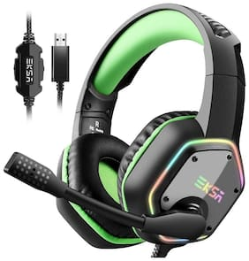EKSA E1000NCMG Over ear Gaming Headsets With Mic - Green