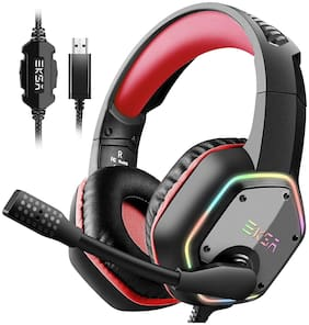 EKSA E1000NCMRB Over ear Gaming Headsets With Mic - Red