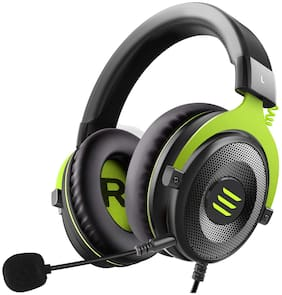 EKSA E900NCMG Over ear Gaming Headsets With Mic - Green