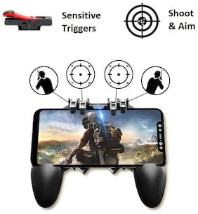 ET BAZAR Wireless Motion Controller & Shoot & Aim Button For Android & iOS ( Black )