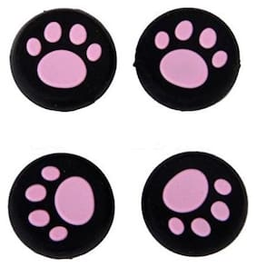 Everycom Cat's Paws Silicone Thumb Sticks Caps Handle Joystick Grip Cover For With Sony PS4/Xbox 360 Controllers - Pink (4 Pcs)