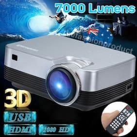 Exelvan 5000Lumens 3D 1080P Projector Home Theater Multimedia HDMI VGA AV USB TF