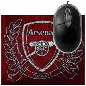 FineArts Arsenal Forward Mousepad With Terabyte 3D Optical USB Mouse