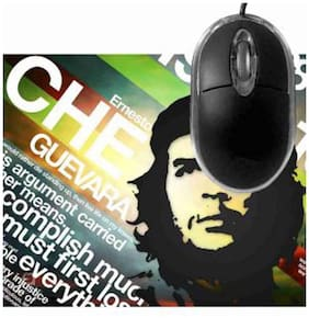 FineArts Che Guevara Mousepad With Terabyte 3D Optical USB Mouse