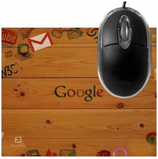 FineArts Google Mousepad With Terabyte 3D Optical USB Mouse
