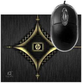 FineArts HP Antique Mousepad With Terabyte 3D Optical USB Mouse