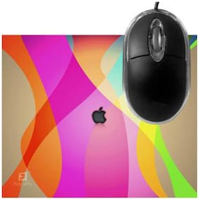 FineArts Macbook Colors Mousepad With Terabyte 3D Optical USB Mouse