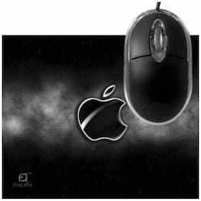 FineArts Macbook Black Mousepad With Terabyte 3D Optical USB Mouse