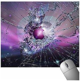 FineArts Purple Apple Broken Glass Mousepad